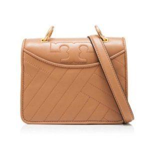 Tory Burch Mini Alexa Bag in Brown Leather